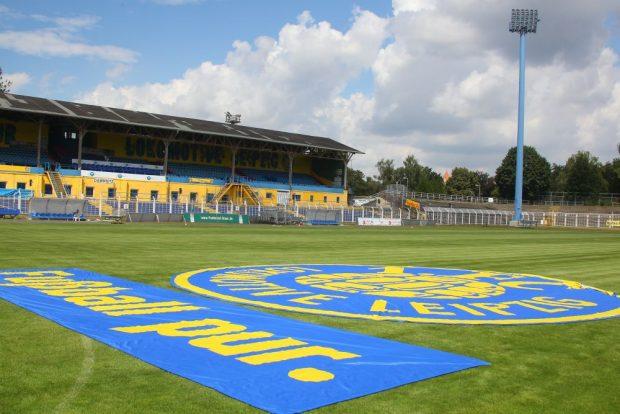 Wird in der kommenden Saison im Bruno-Plache-Stadion in der 3. Liga gespielt? Foto: Jan Kaefer