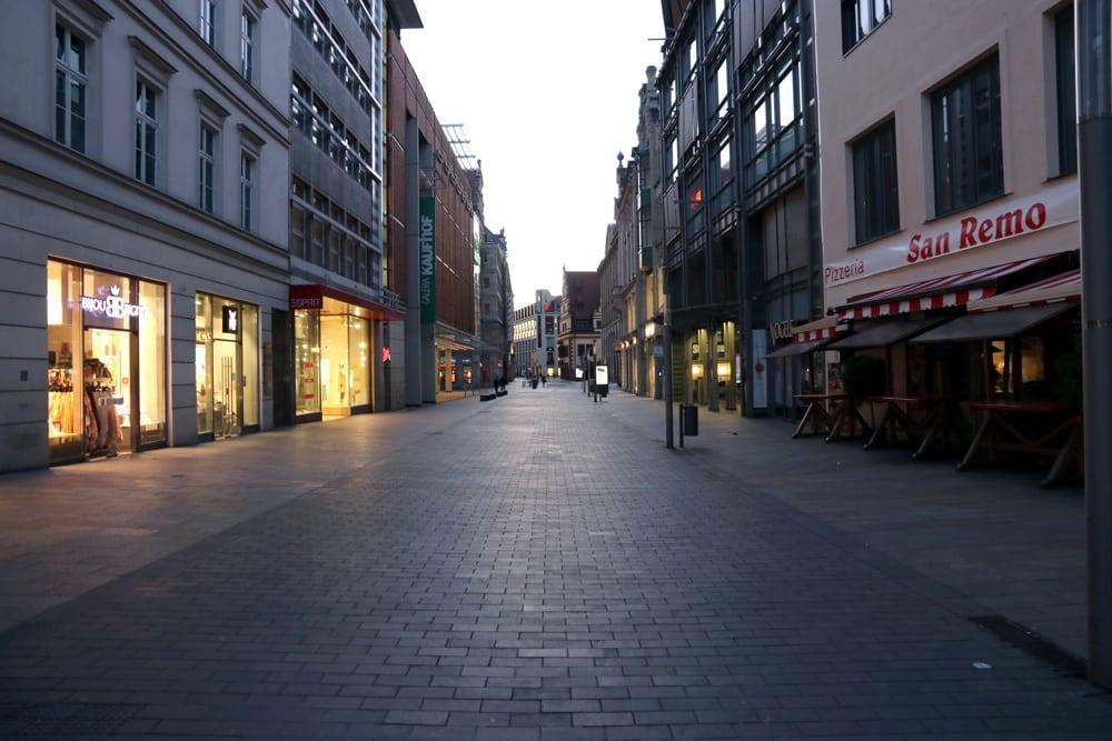 Verlassene Innenstadt. Foto: Michael Freitag