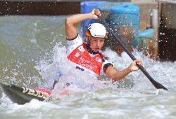 Andrea Herzog (Leipziger KC) ist C1-Weltmeisterin im Kanuslalom. Foto: Jan Kaefer