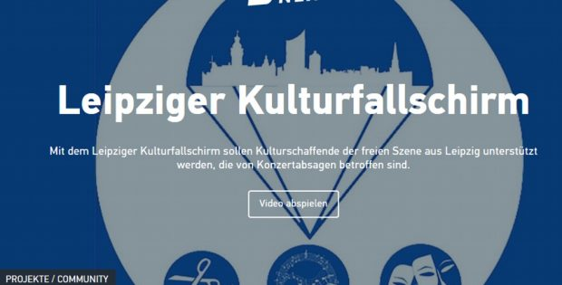 Der Kulturfallschirm bei Startnext soll Gelder für Kulturschaffende einspielen. Foto: Screen Startnext