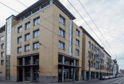 Die Fakultät Digitale Transformation der HTWK Leipzig hat ab sofort ihren Sitz in einem ehemaligen Tagungshotel in der Zschocherschen Straße (im Bild: Hopper-Bau). Quelle: Robert Weinhold/HTWK Leipzig