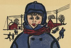 Junge in blauen Mantel. Quelle: CHARTER - Projektgalerie