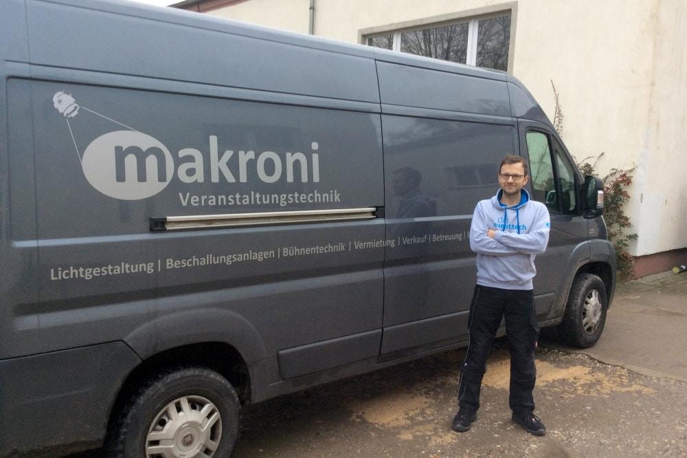 Veranstaltungstechniker Marko Kronberg, Foto; privat