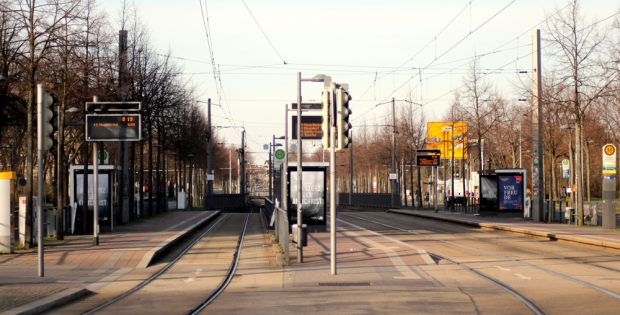 Luftholen vor anstrengenden Tagen. Morgens in Leipzig (Waldplatz). Foto: L-IZ.de