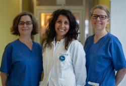 Berit Schulz, OÄ Dr. med. Nadja Uhlig, Lysann Redeker, v.l.n.r. Foto: Klinikum St. Georg