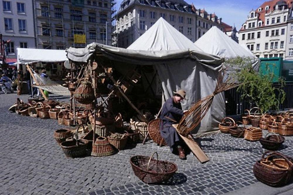 Historische Leipziger Ostermesse. Foto: Stadt Leipzig / Marktamt