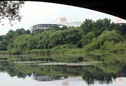 In der Red-Bull-Arena soll trotz Coronavirus morgen Abend ein Spiel stattfinden. Foto: L-IZ.de
