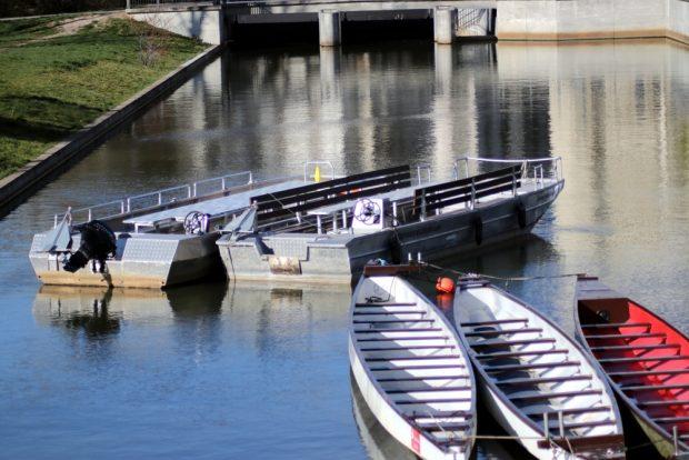 Stille am Stadthafen - am sonnigen Sonntag ruhte der Gesamtbetrieb. Foto: L-IZ.de