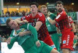 Rückschlag für Franz Semper (links) und Philipp Weber (3.v.l.) - die beiden Nationalsspieler müssen in Quarantäne. Foto: Jan Kaefer