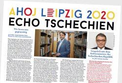"""Die Zeitung """"Ahoj Leipzig 2020"""". Cover: Leipzig2020Tschechien"""