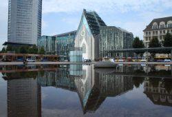 Schon ziemlich verbaut: der Augustusplatz. Foto: Ralf Julke