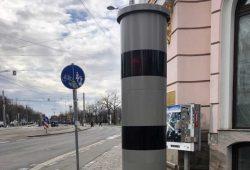 Der neue Blitzer am Waldplatz. Foto: Stadt Leipzig
