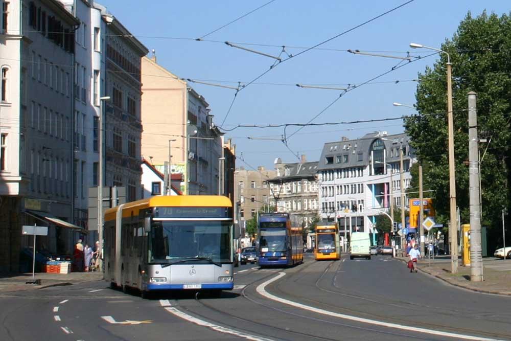 Die Dresdner Straße kurz vor der Kurve. Archivfoto: Ralf Julke