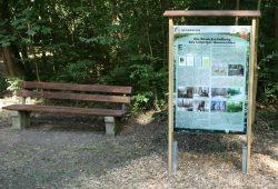 Informationstafel im Waldgebiet Die Nonne. Foto: Ralf Julke