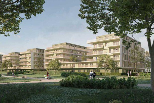 Visualisierung der geplanten Bebauung an der Kohlenstraße. Visualisierung: Stadtbau Wohnprojeke GmbH