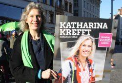 Die OBM-Kandidatin der Grünen: Katharina Krefft. Foto: Ralf Julke