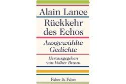 Alain Lance: Rückkehr des Echos. Cover:Faber & Faber
