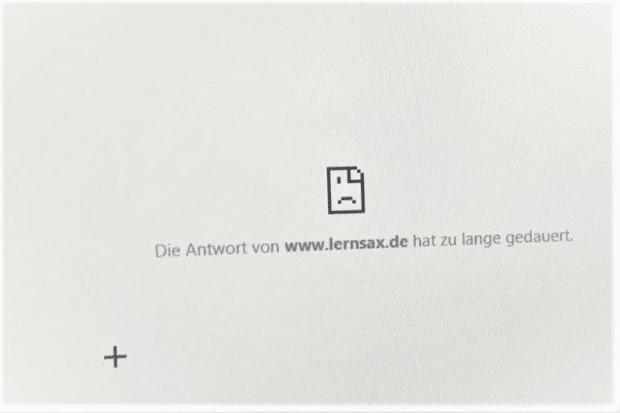 Die Lernplattform LernSax war am Mittwoch zeitweise offline. Foto: L-IZ.de