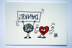 """Postkarte zum Crowdfunding für """"Nicht gesellschaftsfähig"""". Foto: L-IZ"""