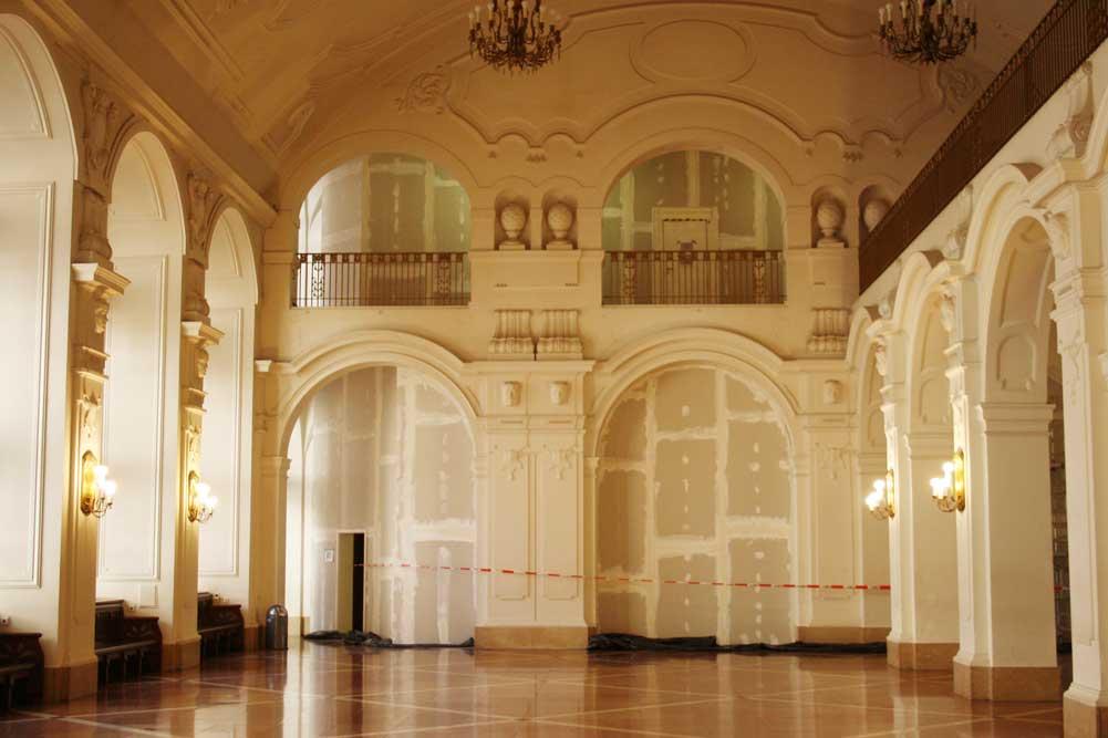 Wandelhalle ohne Publikum. Foto: Ralf Julke
