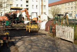Instandsetzung - Zufahrt KITAs Sonnenschein Marienkaefer. Foto: Stadt Borna