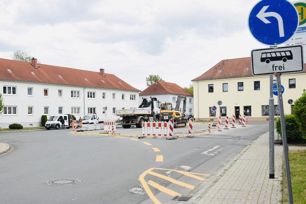Umbau-Platz-Bergmannstr., Foto Stadt Borna