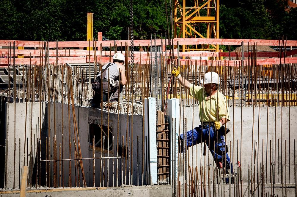 Arbeiter auf Baustelle, Foto: IG Bau