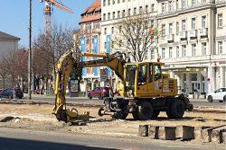 Baustelle Goerdelerring. Foto: L-IZ