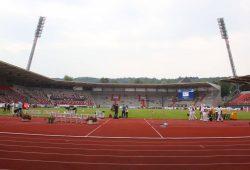 Das Erfurter Steigerwaldstadion - möglicherweise wird hier der Regionalliga-Aufstieg entschieden. Foto: Jan Kaefer (Archiv)