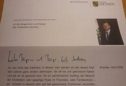 Sachsens Ministerpräsident Michael Kretschmer schreibt den Bürger/-innen in der Coronakrise. Foto: L-IZ.de