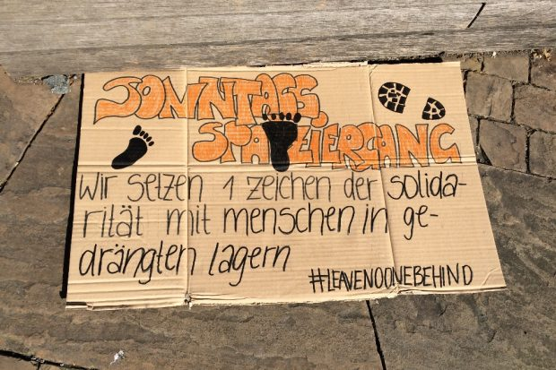 Leave no one behind - Aktionstag am 5. April in Leipzig. Foto: L-IZ.de