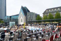 Leere Stühle auf dem Augustusplatz, Foto: privat
