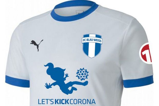 Das Sondertrikot des FC Blau-Weiß Leipzig. Foto: 11teamsports
