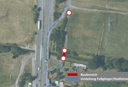 Sperrung der Eula-Bruecke. Quelle: Stadtverwaltung Borna