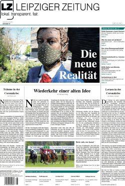 Das Titelblatt dr LEIPZIGER ZEITUNG Nr. 78, Ausgabe April 2020. Foto: Screen LZ