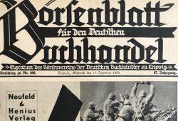 Umschlag Börsenblatt für den Deutschen Buchandel (Ausschnitt) © SLUB