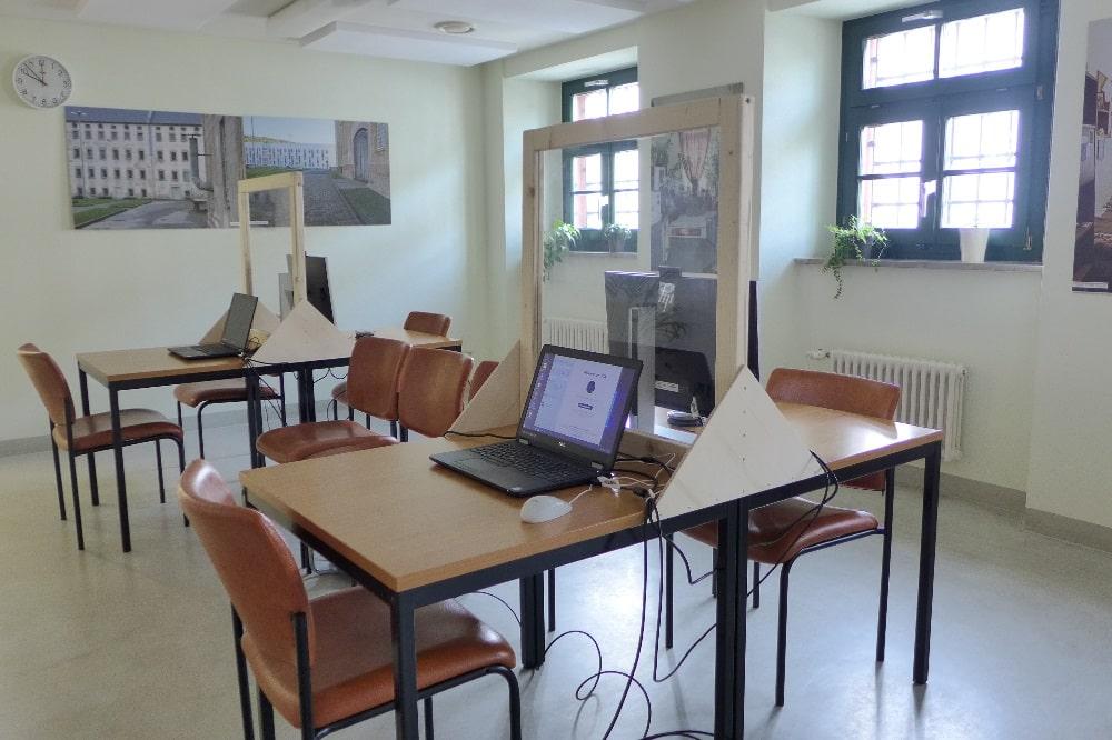 Videotelefonieplätze in der JVA Waldheim © SMJusDEG