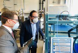 Wissenschaftsminister Sebastian Gemkow besuchte heute das Fraunhofer IWS © Fraunhofer IWS