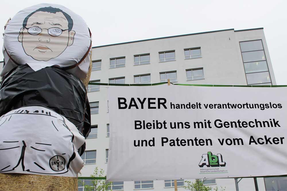 AbL-Protest zur Bayer-Hauptversammlung. Foto: AbL e.V.