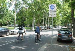 Fahrradstraße Beethovenstraße. Foto: Ralf Julke