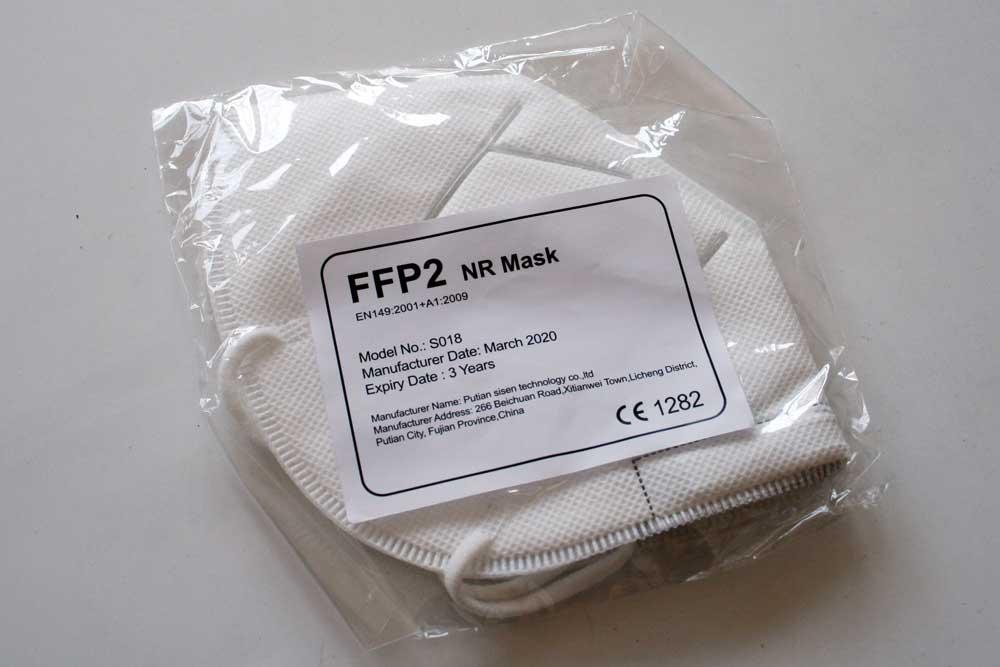 Handelsübliche FFP-Maske aus China. Foto: Ralf Julke