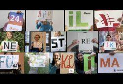 "Die Video-Collage ""24. April #NetzstreikFürsKlima"" . Foto: klima-streik.org"