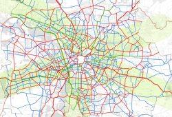 """Ausschnitt aus der Karte """"HauptNetzRad Stadt Leipzig"""". Karte: Stadt Leipzig"""