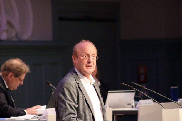 Steffen Wehmann (Linke) im Stadtrat. Foto: L-IZ.de