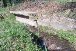 Reste einer Betonbrücke am Weinteichgraben. Foto: BI Markkleeberg-Ost