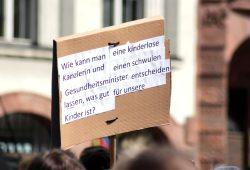 """Bei der """"Bewegung Leipzig"""" """"argumentiert"""" man hier und da auch mal so ... Foto: MIchael Freitag"""