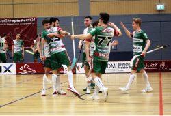 Die Floorballer des SC DHfK spielen in der kommenden Saison in der 1. Floorball-Bundesliga. Quelle: SC DHfK Leipzig Floorball