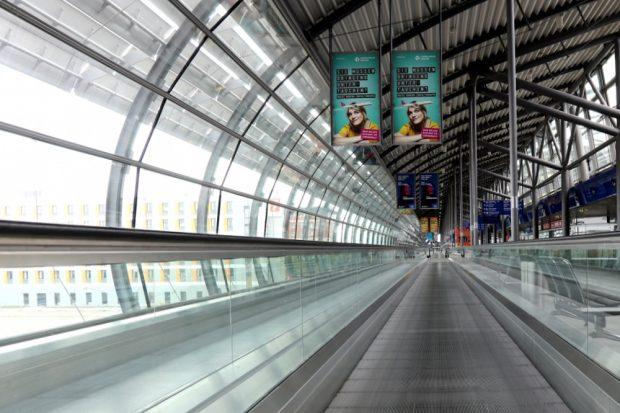 Gähnende Leere am Flughafen Leipzig in Coronazeiten. Foto: L-IZ.de