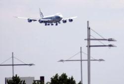 Landeanflug am Flughafen Leipzig/Halle. Foto: L-IZ.de