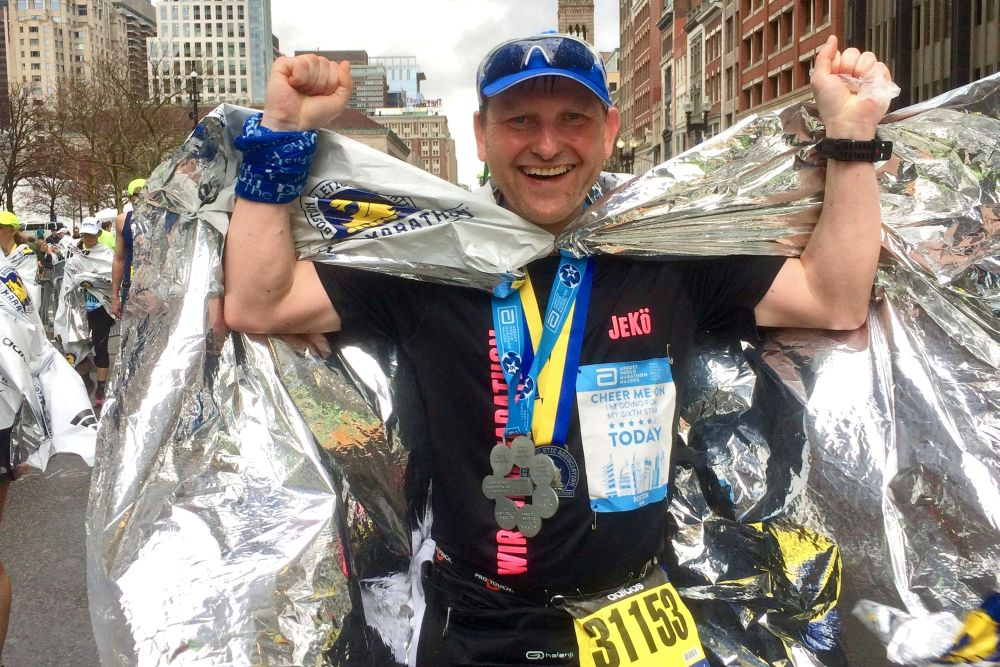 Jens Körner beim Boston-Marathon 2019. Foto: privat